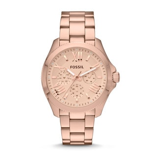 Fossil Women's Cecile Rose Goldtone Chronograph Watch