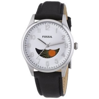 Fossil Men's 'The Agent' Black Leather Watch