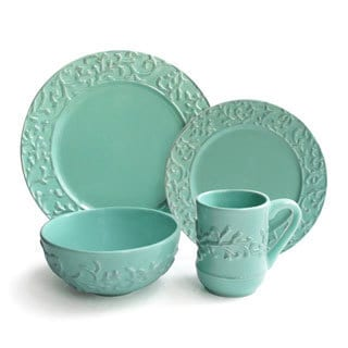 Waverly Savory Teal 16-piece Dinner Set