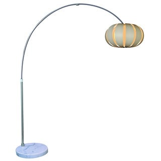 Pique 1-light Brushed Nickel Arc Floor Lamp