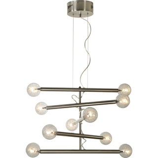 Mira 10-light Brushed Nickel Modern Chandelier