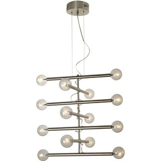 Mira 14-light Brushed Nickel Modern Chandelier