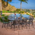 Christopher Knight Home Delray 9-piece Cast Aluminum Copper Outdoor Dining Set