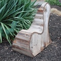 Natural Reclaimed Redwood Tear Drop Outdoor Chair