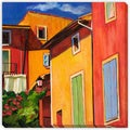 Maxine Shore 'Colorful Houses' Gallery-wrapped Canvas