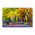 Autumn In Central Park Gallery Wrapped Canvas