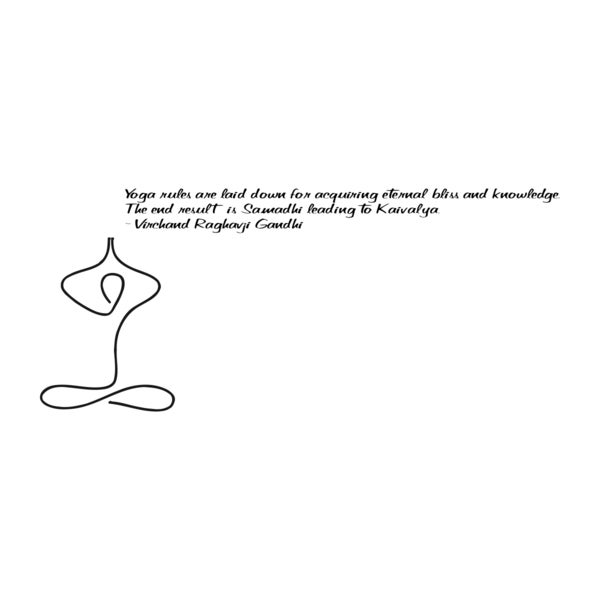 Yoga Quote 'Yoga Rules Are...' Black Vinyl Wall Decal Sticker
