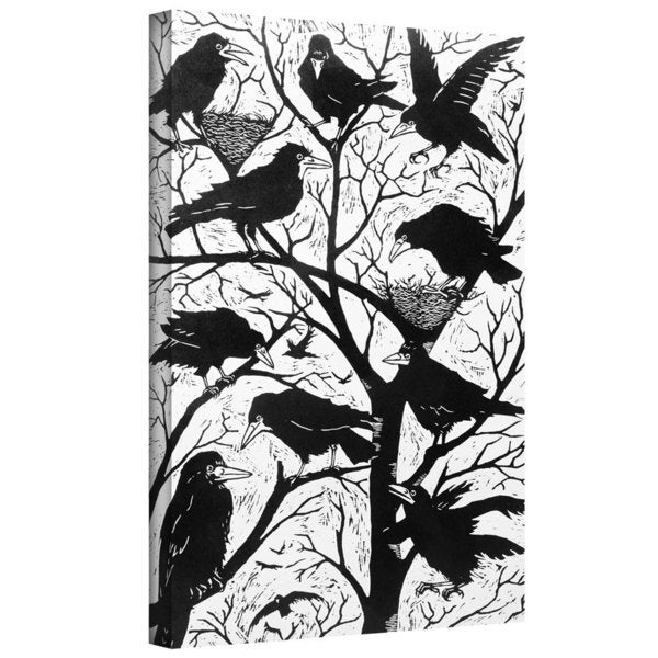 Nat Morley 'Rooks' Gallery-wrapped Canvas Art