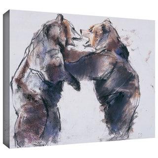 ArtWall Mark Adlington 'Playfight' Gallery-Wrapped Canvas