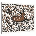 ArtWall Nat Morley 'Woodland Deer' Gallery-Wrapped Canvas