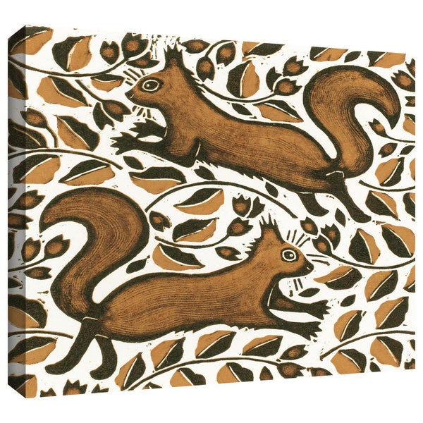 ArtWall Nat Morley 'Beachnut Squirrels' Gallery-Wrapped Canvas