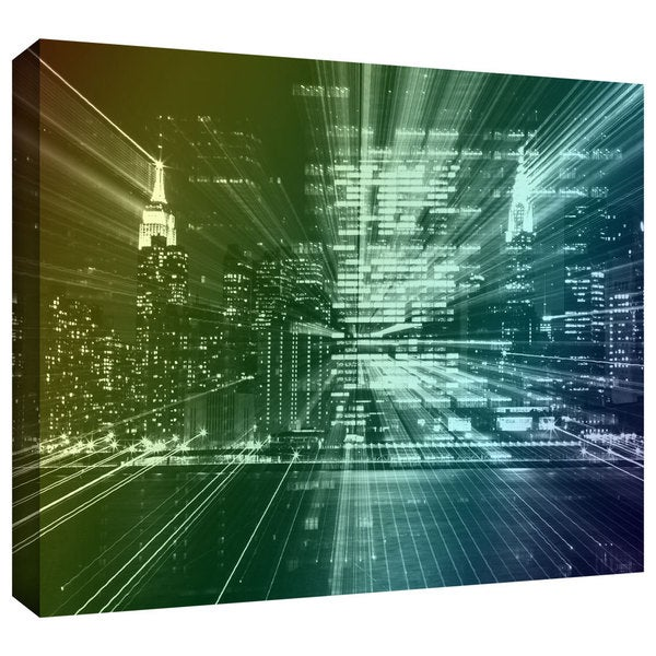ArtWall John Black 'City Lights' Gallery-Wrapped Canvas