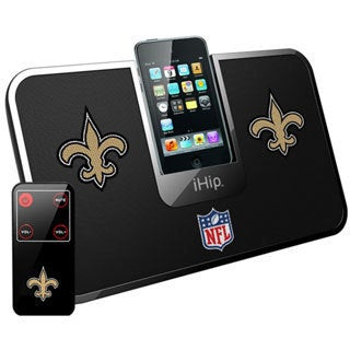 iHip Official NFL New Orleans Saints Portable iDock Wireless Remote Stereo Speaker