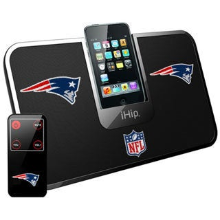 iHip Official NFL New England Patriots Portable iDock Wireless Remote Stereo Speaker