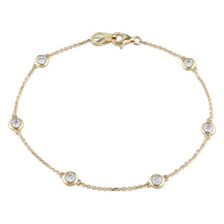 Miadora 14k Yellow Gold 1/2ct TDW Diamond By-the-Yard Bracelet (G-H, I1-I2)