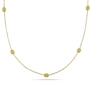 Miadora 14k Yellow Gold 1/6ct TDW Diamond Necklace (G-H, SI1-SI2)