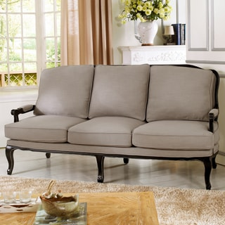 Baxton Studio Antoinette Classic Antiqued French Sofa
