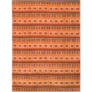 Safavieh Hand-knotted Nepalese Rust/ Multi Wool/ Silk Rug (10' x 14')