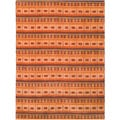 review detail Safavieh Hand-knotted Nepalese Rust/ Multi Wool/ Silk Rug (10' x 14')
