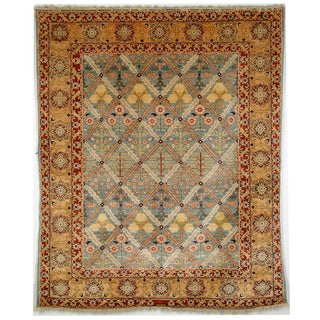 Safavieh Hand-knotted Peshawar Vegetable Dye Light Blue/ Gold Wool Rug (6' x 9')