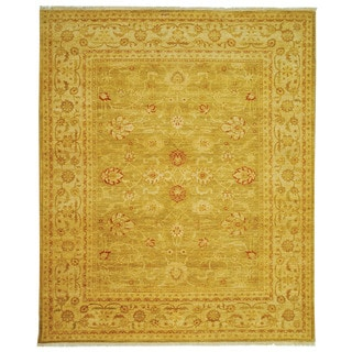 Safavieh Hand-knotted Peshawar Vegetable Dye Olive/ Lemon Wool Rug (6' x 9')