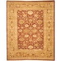 Safavieh Hand-knotted Peshawar Vegetable Dye Rust/ Lemon Wool Rug (6' x 9')