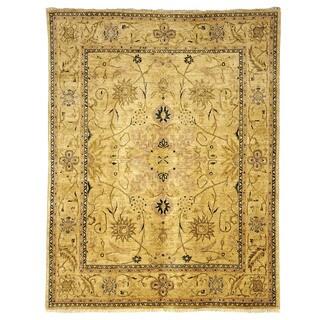 Safavieh Hand-knotted Peshawar Vegetable Dye Ivory/ Blue Wool Rug (6' x 9')