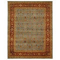Safavieh Hand-knotted Samarkand Blue/ Red Wool Rug (8' x 10')