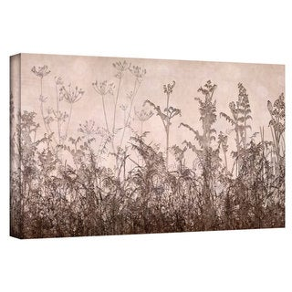 ArtWall Cora Niele 'Wildflowers Brown' Gallery-Wrapped Canvas