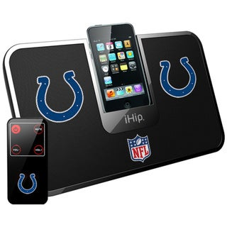 iHip Official NFL Indianapolis Colts Portable iDock Wireless Remote Stereo Speaker
