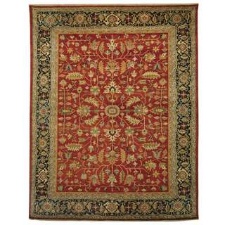 Safavieh Hand-knotted Samarkand Rust/ Navy Wool Rug (6' x 9')