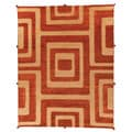 Safavieh Hand-knotted Santa Fe Light Gold Wool Rug (8' x 10')