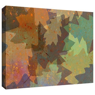 ArtWall Cora Niele 'American Oak Leaves' Gallery-Wrapped Canvas
