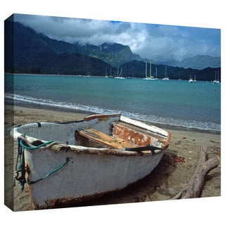 ArtWall Kathy Yates 'Waiting to Row in Hanalei Bay' Gallery-Wrapped Canvas