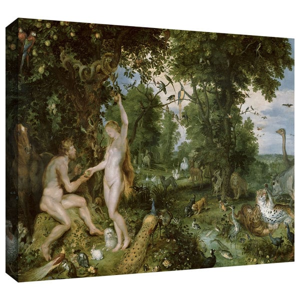Pieter Bruegel 'The Garden of Eden with The Fall of Man' Gallery-wrapped Canvas