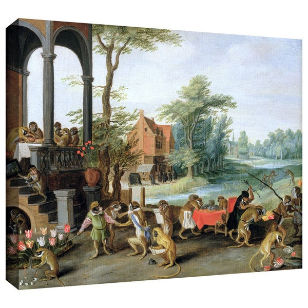 ArtWall Pieter Bruegel 'A Satire of the Folly of Tulip Mania' Gallery-Wrapped Canvas