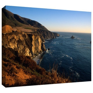 ArtWall Kathy Yates 'Golden Glow on Big Sur' Gallery-Wrapped Canvas