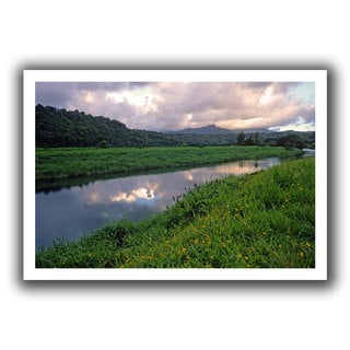 ArtWall Kathy Yates 'Hanalei River Reflections' Unwrapped Canvas