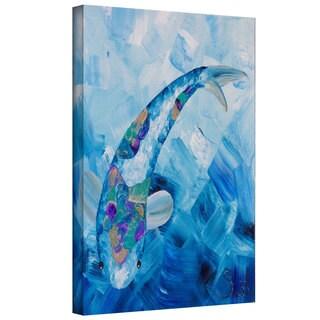 ArtWall Shiela Gosselin 'Blue Koi' Gallery-Wrapped Canvas