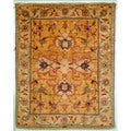 Safavieh Hand-knotted Peshawar Vegetable Dye Light Gold/ Ivory Wool Rug (5' x 7')