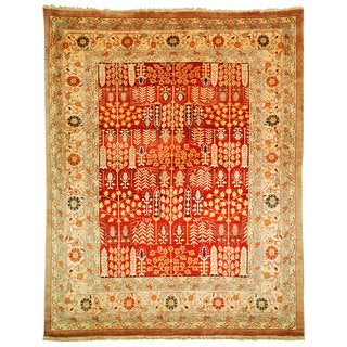 Safavieh Hand-knotted Samarkand Rust/ Camel Wool Rug (9' x 12')