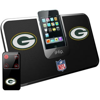 iHip Official NFL Green Bay Packers Portable iDock Wireless Remote Stereo Speaker