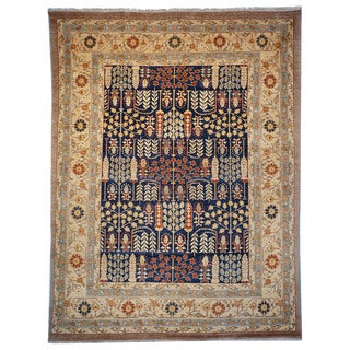 Safavieh Hand-knotted Samarkand Navy/ Light Gold Wool Rug (6' x 9')