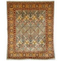 Safavieh Hand-knotted Peshawar Vegetable Dye Light Blue/ Gold Wool Rug (5' x 8')