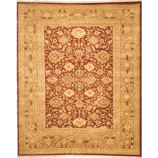 Safavieh Hand-knotted Peshawar Vegetable Dye Rust/ Lemon Wool Rug (5' x 8')