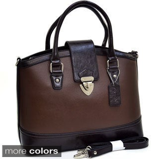 Dasein Two-tone Tall Twist-lock Satchel