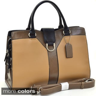 Dasein Two-tone D-ring Accent Satchel