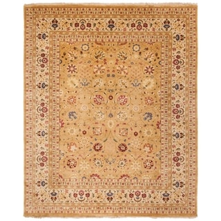 Safavieh Hand-knotted Ganges River Gold/ Ivory Wool Rug (8' x 10')