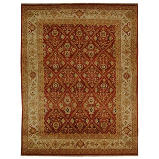 Safavieh Hand-knotted Samarkand Rust/ Ivory Wool Rug (6' x 9')