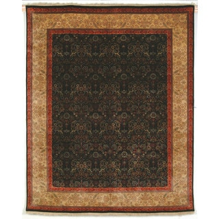 Safavieh Hand-knotted Ganges River Black/ Gold Wool Rug (8' x 10')